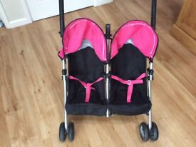 Silver cross dolls double pushchair