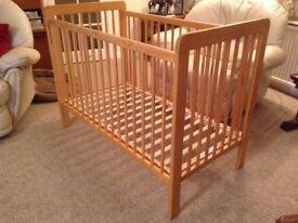 Natural wood John Lewis cot
