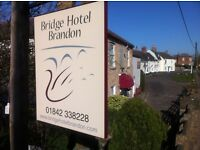 Guy or Girl to join the team at the Bridge Hotel Brandon part time and do plenty!