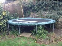 Trampoline free to a good home. Oval shaped so ideal for a small garden.