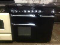 Rangemaster 90 dual fuel black cooker