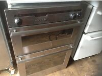 Stainless steel double oven,£75.00