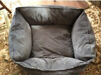 Well padded corduroy type large dogs bed