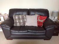 Bargain Last few days, 2 x Brown leather Sofas