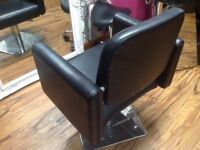salon chair excellent condition also a cutting stool