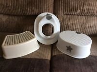 Toilet training seat, Ikea step & Step with silver star design