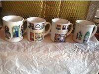Set of 4 Wade Collectable mugs -'An English Life' (reduced)