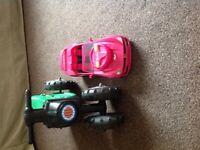 Remote control Barbie car