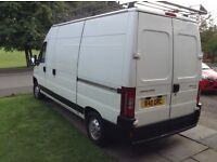 Citroen Relay 05 LWB Van, partial camper conversion with awning