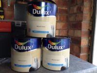 3 X 2.5 litres dulux natural calico emulsion.