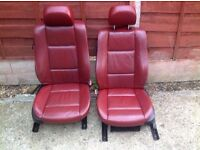 BMW E46 Coupe Oxblood Red Electric Memory Leather Interior