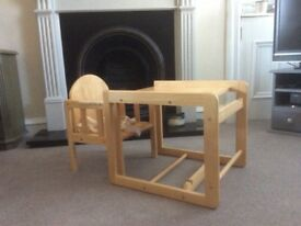 East Coast Combination Wooden High Chair from a smoke and pet free home