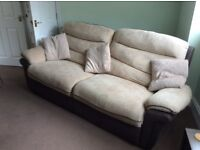 3 seater sofa plus matching armchair