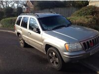 Jeep Grand Cheroke still on the run. Great for repers or spares. £600.