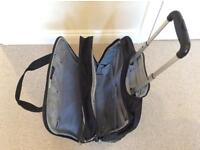 Delsey Black Wheeled carry-on case with telescopic handle