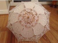 Brand new 4 x lace kids wedding umbrellas