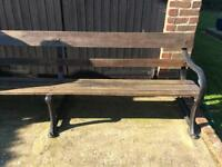 Large old park / railway bench