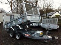 8x5,6 dale Kane electric tipper trailer flatbed not Ifor Williams