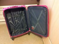 "Suit case 24"" polka dot. Expanding. New unused."