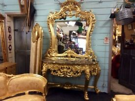 Gorgeous French console set