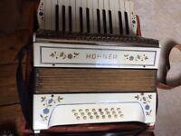 VINTAGE PIANO ACCORDION with original case