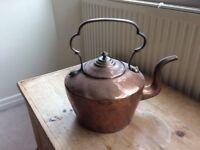 Large Antique Copper Kettle