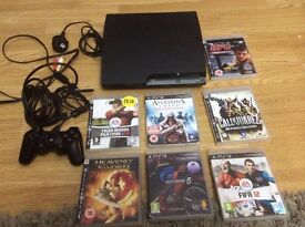 SONY PS3 160GB CONSOLE WITH GAMES