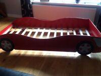 RACING CAR SINGLE BED (fits a standard single mattress)