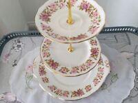 Duchess Summer Glory Bone China 3 Tier Cake Stand.
