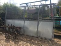 Galvanised dog pen sections