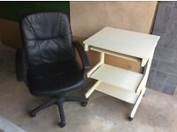 Office chair and computer table