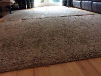 2 ikea rugs, beige/brown. 133 x 195 (4.1/2ft x 6.1/2ft)