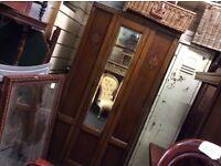 Reduced Vintage single mirror fronted wardrobe