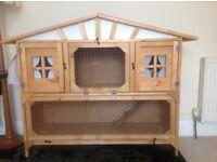 Luxury 4FT Double Apex Chalet Rabbit Hutch - BRAND NEW