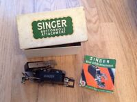 Vintage Singer sewing machine button hole attachment