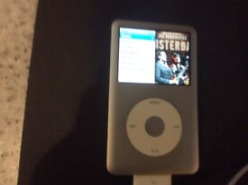 160Gb iPod Classic, silver.
