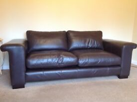 Three seater down leather sofa for sale