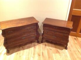 matching drawer set of two cabinets