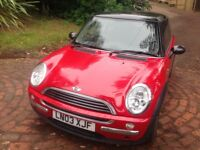 Mini one petrol 2003 mot history air con music drives good