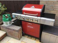 Outback Meteor 4 burner + side burner gas BBQ
