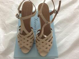 Beige ladies sandals