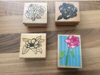 4 stamps for cardmaking