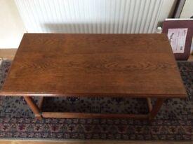 Rectangular oak coffee table