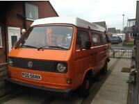 VW T25 pop top campervan