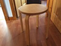 2 x Round Wooden Stools - great condition, could be painted