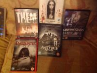 12 Assorted Horror DVDs,used.