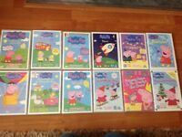 Bundle of 12 x Peppa Pig DVDs (one unopened)