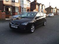 2007 Ford Focus 1.6 Zetec climate 5dr hatchback petrol manual black colour full history £1450