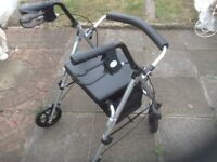 Adjustable Mobility Aid,little used with seat and underneath storage, vgc only £20
