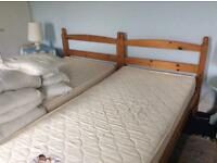 Single beds x2